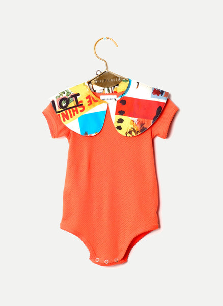 Wolf and Rita Baby Carminho Bodysuit in Mister W Print - FINAL SALE