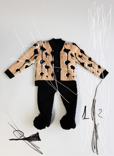 Wolf and Rita Baby Cardigan Samuel in Drops - FINAL SALE