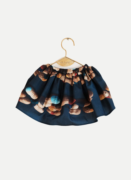 Wolf and Rita Carla Skirt in Peanut Print