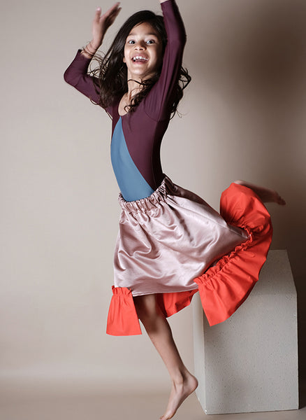 Wolf and Rita Conceicao Skirt in Pink Red