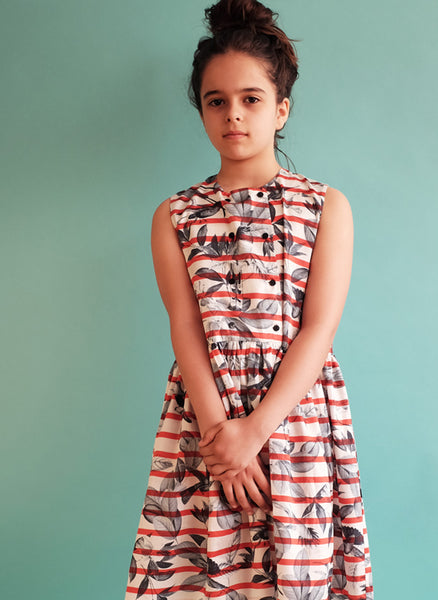 Wolf and Rita Dress Guadalupe in Birds - FINAL SALE