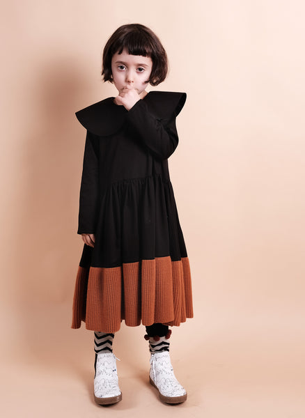 Wolf and Rita Girls Palmira Dress in Black - FINAL SALE