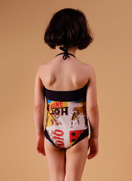 Wolf and Rita Daniela Swimsuit in Mister W Print - FINAL SALE
