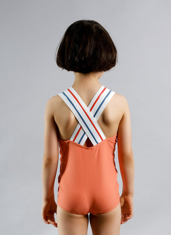 Wolf and Rita Liliana Swimsuit in Coral - FINAL SALE
