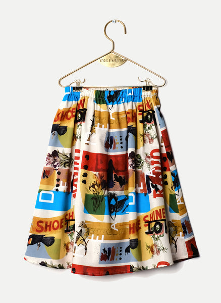 Wolf and Rita Lurdes Skirt in Mister W Print - FINAL SALE
