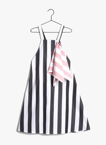 Wolf and Rita Mafalda Dress in White Stripes - FINAL SALE