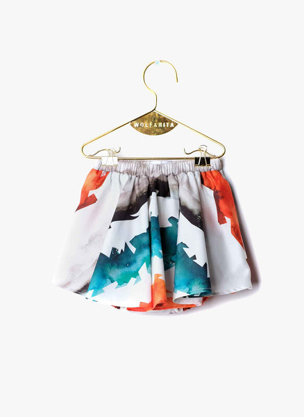 Wolf and Rita Baby Luisa Skort in Watercolor Stripes