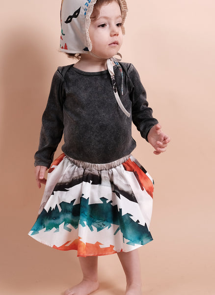 Wolf and Rita Baby Luisa Skort in Watercolor Stripes - FINAL SALE