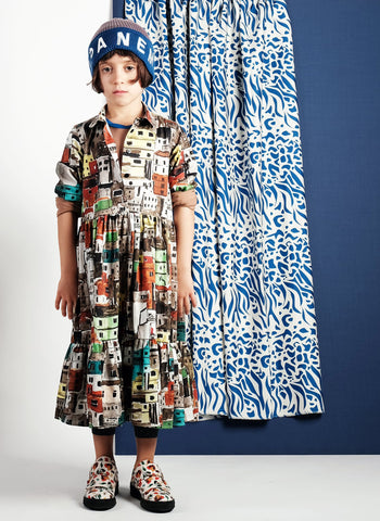 Wolf and Rita Vanessa Dress in Terra Que Treme Print - FINAL SALE
