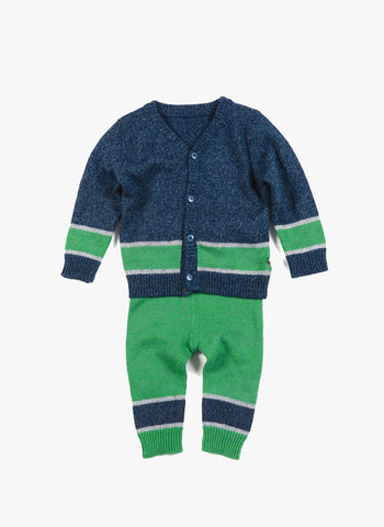 Appaman Baby Football Cardigan and Legging Set in Galaxy - FINAL SALE