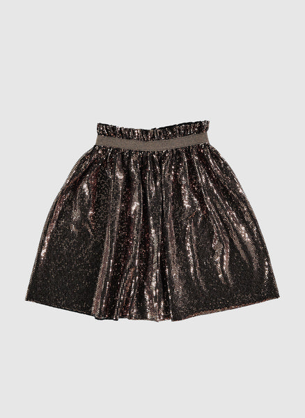 tocoto vintage Glitter skirt in Brown - FINAL SALE