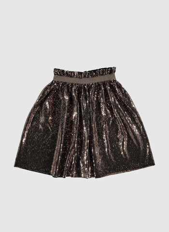 tocoto vintage Glitter skirt in Brown