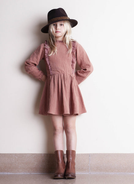 tocoto vintage Lace Dress in Pink - FINAL SALE