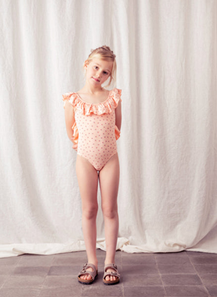 tocoto vintage Strawberry Swimsuit in Salmon