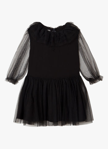 tocoto vintage Tulle Dress in Black - PRE-ORDER