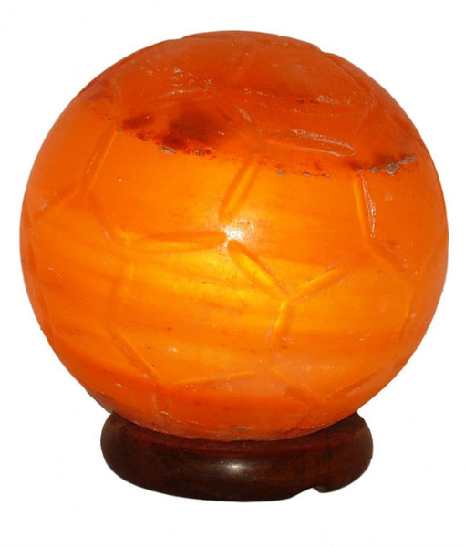 Soccer Ball Shape Salt Lamp Himalayan Salt with Base and Electrical Kit - 5-7kg