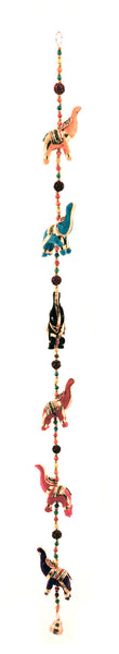 Hanging Elephant Decoration Mobile Multi Colour Six Elephant