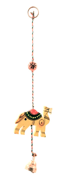 Wood Ornament and Bell Keychain String Painted Variety Shapes