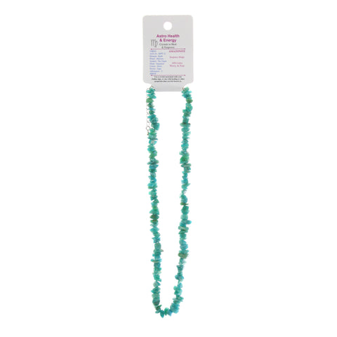 Amazonite Crystal Chip Elastic Horoscope Necklace - Star Sign Virgo