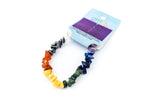Chakra Elastic Jewellery Bracelet With Seven Types Of Crystal Chips