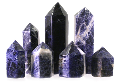 60mm Sodalite Generator Single Point Cut and Polished From Brazil