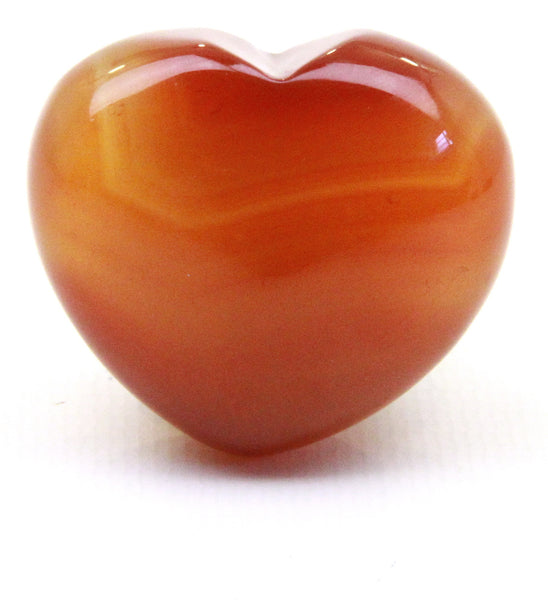 Carnelian Crystal Heart Cut and Polished Mineral - 40mm