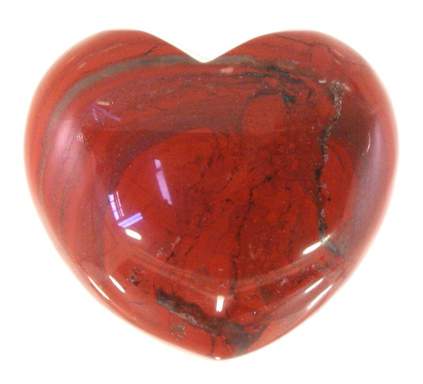 Red Jasper Crystal Heart Cut and Polished Mineral - 30mm