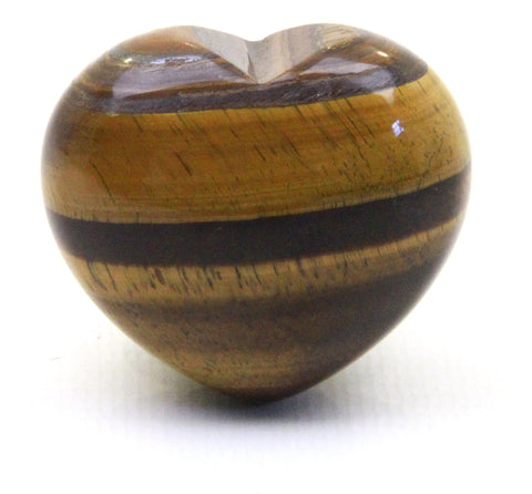 Tiger Eye Crystal Heart Cut and Polished Mineral - 30mm