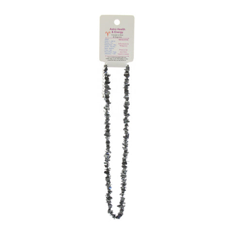 Hematite Crystal Chip Elastic Horoscope Necklace - Star Sign Aries
