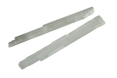 White Selenite Crystal Rough Stick Natural Mineral - 20 to 25cm