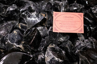 6 x Black Obsidian Crystal Rough Chunk Natural Mineral - 4 to 8cm
