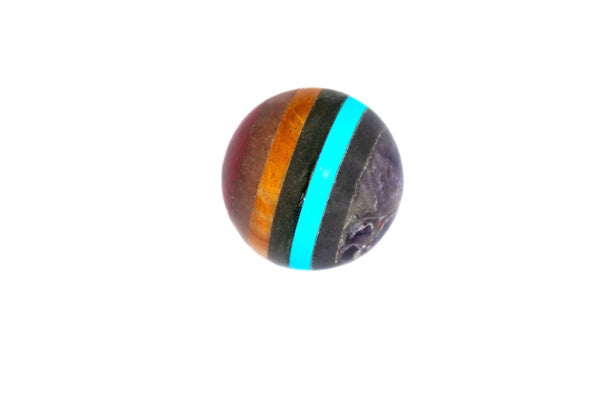 Chakra Crystal Sphere Cut and Polished Mineral - 60mm Diameter