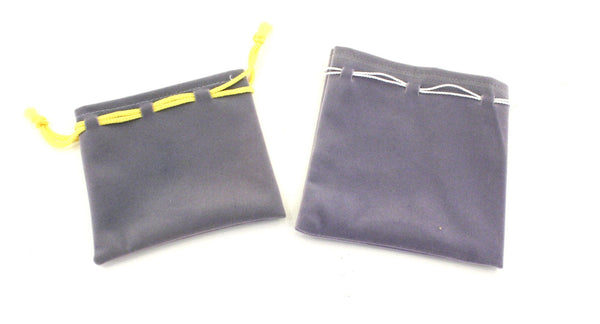 Suede Gift Bag Pouch Coloured String - Grey