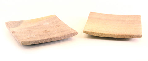 Square Sandstone Plate Natural Colours - 10cm