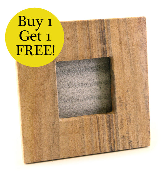 Sandstone Carved Photo Frame With Stand BUY ONE GET ONE FREE - Small