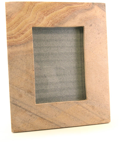 Sandstone Carved Photo Frame With Stand - Medium