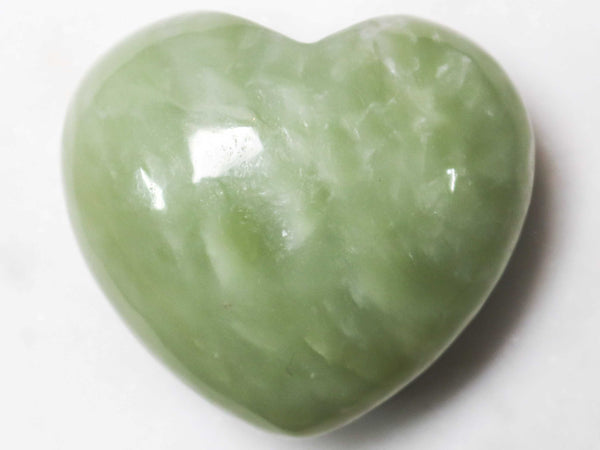Jade Crystal Heart Cut and Polished Mineral - 40mm