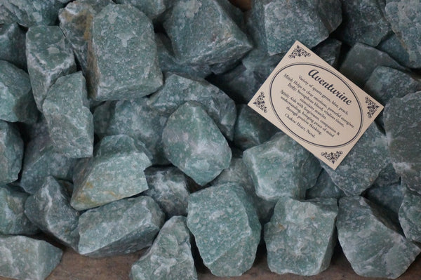 6 x Green Aventurine Crystal Rough Chunk Natural Mineral - 4 to 8cm