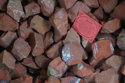 6 x Red Jasper Crystal Rough Chunk Natural Mineral - 4 to 8cm