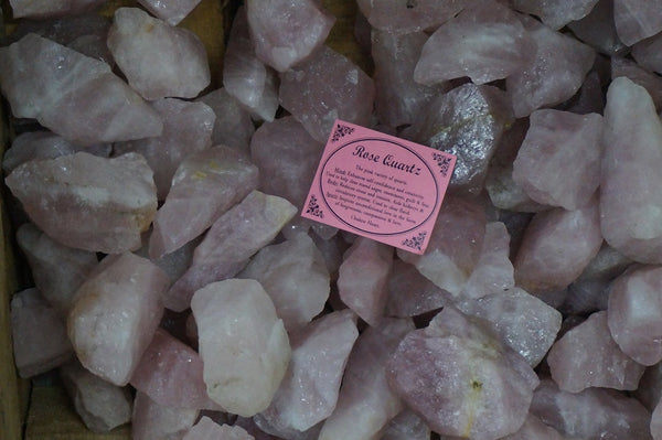 6 x Rose Quartz Crystal Rough Chunk Natural Mineral - 4 to 8cm