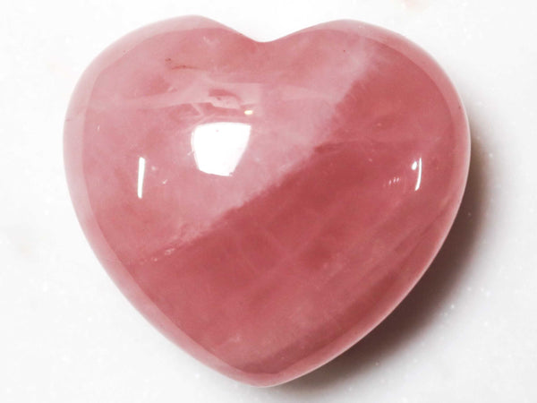 Rose Quartz Crystal Heart Cut and Polished Mineral - 20mm