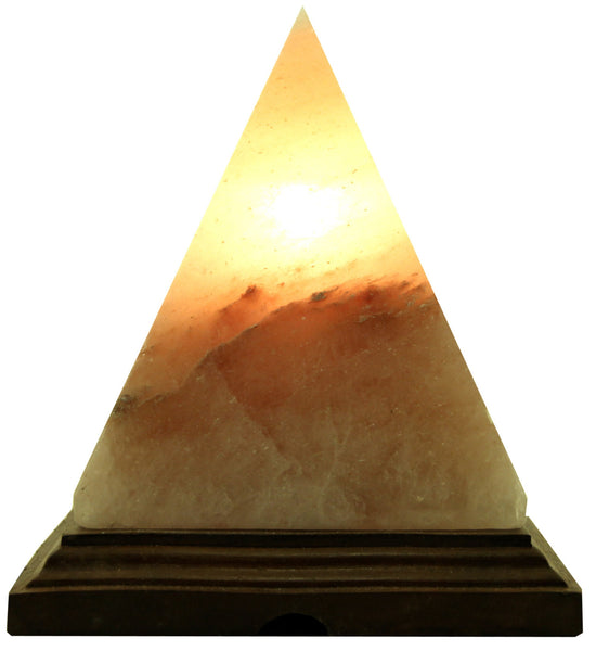 Large Pyramid Shape Salt Lamp Himalayan Salt with Base and Electrical Kit - 3-5kg