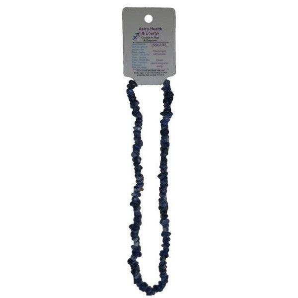 Sodalite Crystal Chip Elastic Horoscope Necklace - Star Sign Sagittarius