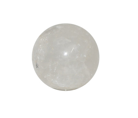 Clear Quartz Crystal Sphere Cut and Polished Mineral - 60mm Diameter