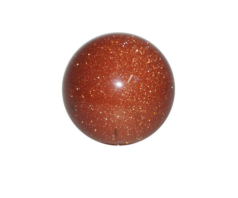 Goldstone Crystal Sphere Cut and Polished Mineral - 40mm Diameter