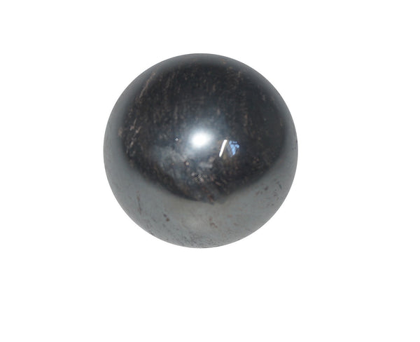 Hematite Crystal Sphere Cut and Polished Mineral - 60mm Diameter