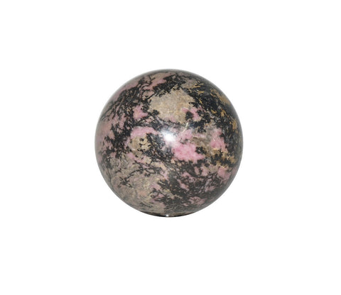 Rhodonite Crystal Sphere Cut and Polished Mineral - 60mm Diameter