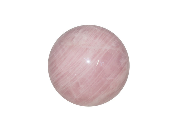 Rose Quartz Crystal Sphere Cut and Polished Mineral - 40mm Diameter