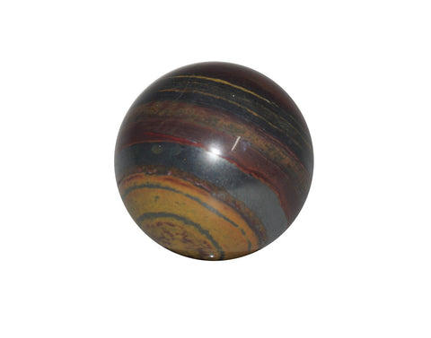 Tiger Iron Crystal Sphere Cut and Polished Mineral - 60mm Diameter
