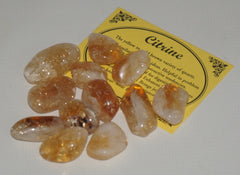 Citrine Crystal Set of 6 Tumbled Stones Smoothed and Polished - 2x3cm